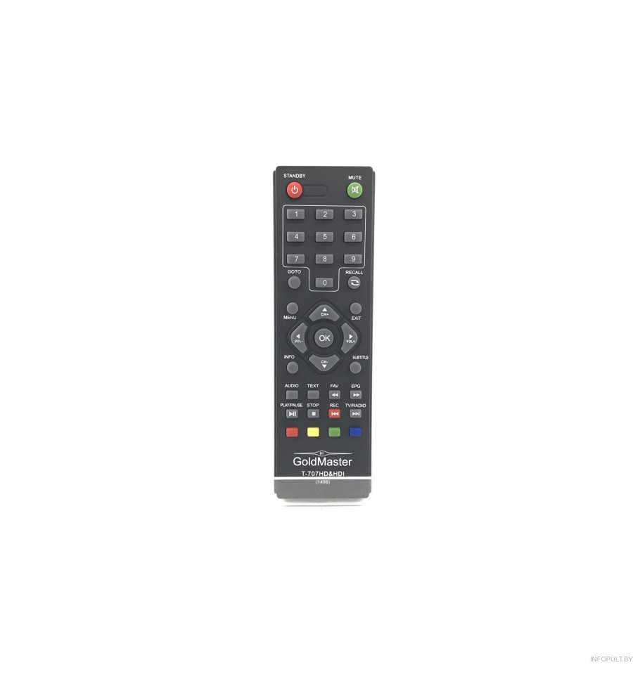 Пульт GoldMaster T-707 HD&HDL DVB-T2 (mini)