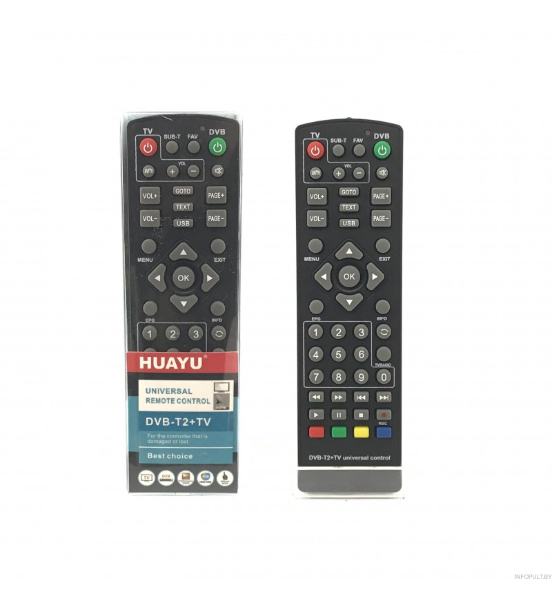 Пульт Huayu DVB T2+TV