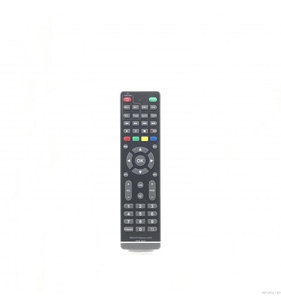 Пульт Huayu DVB T2+TV VERSION 2017