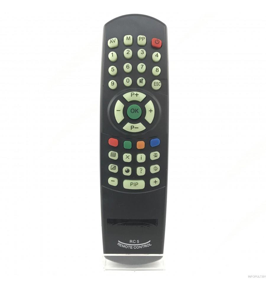 Пульт Витязь RC-5/7 TV fosfor