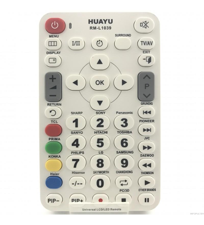 Huayu RM - 1039 UNIVERSAL LCD/LED TV REMOTE CONTROL