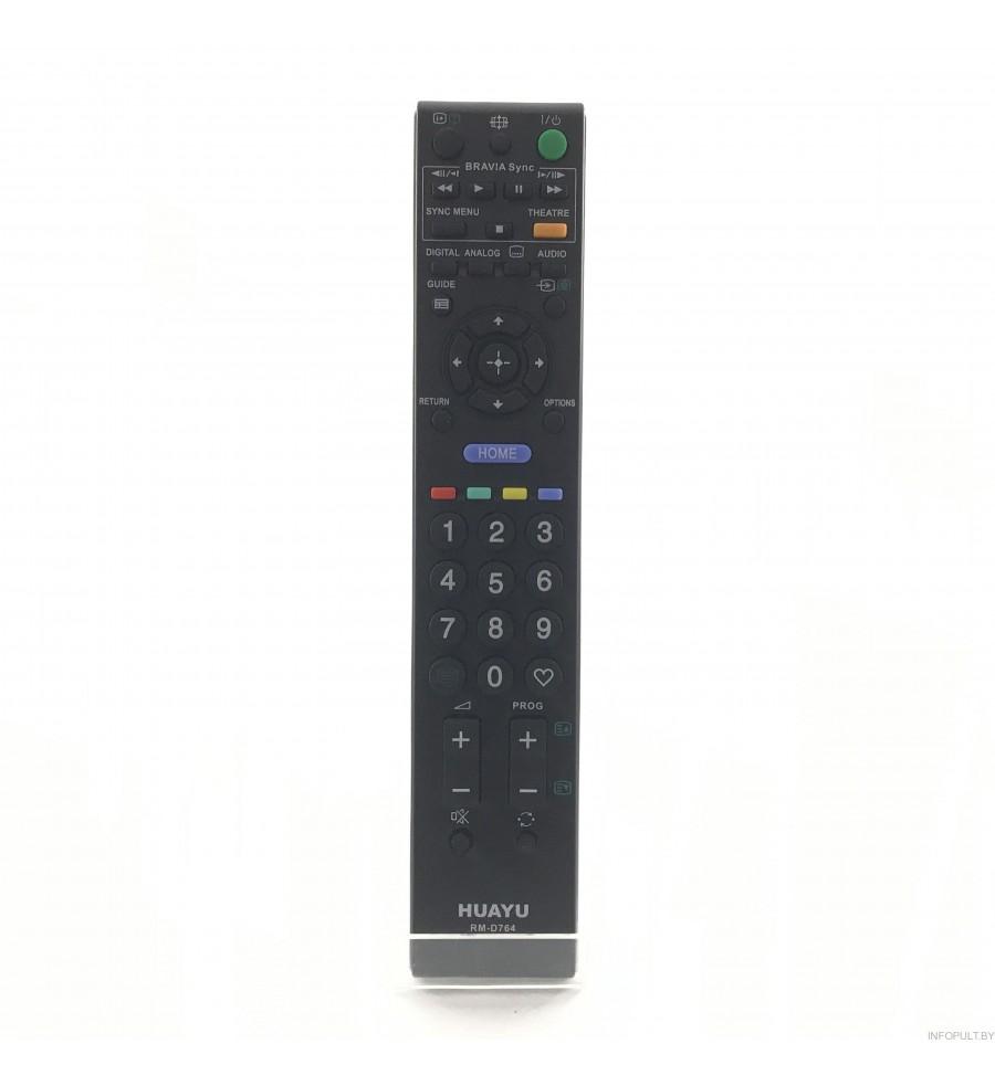 Пульт Huayu для Sony RM-D764 Black корпус RM-ED013
