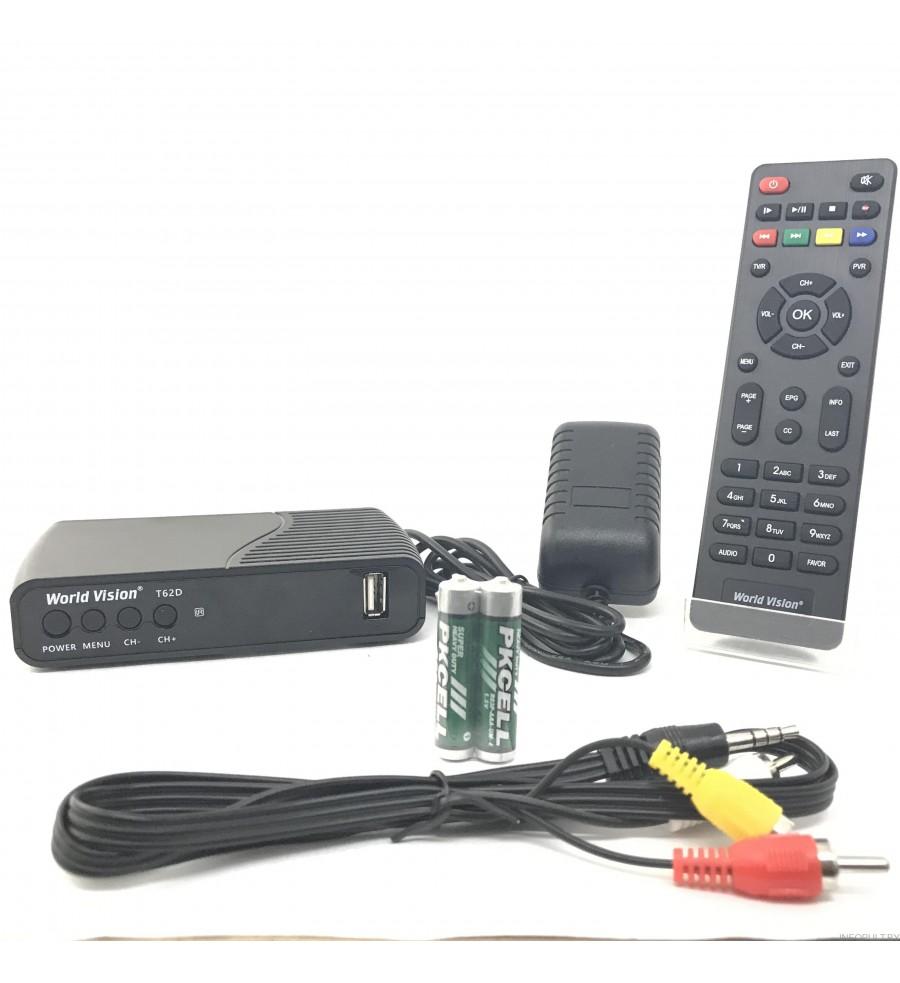 World Vision T62D (HD DVB - T.T2 Digital TV Receiver)