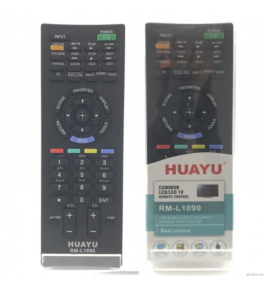 Пульт Huayu для Sony RM-L1090 LCD TV 3D