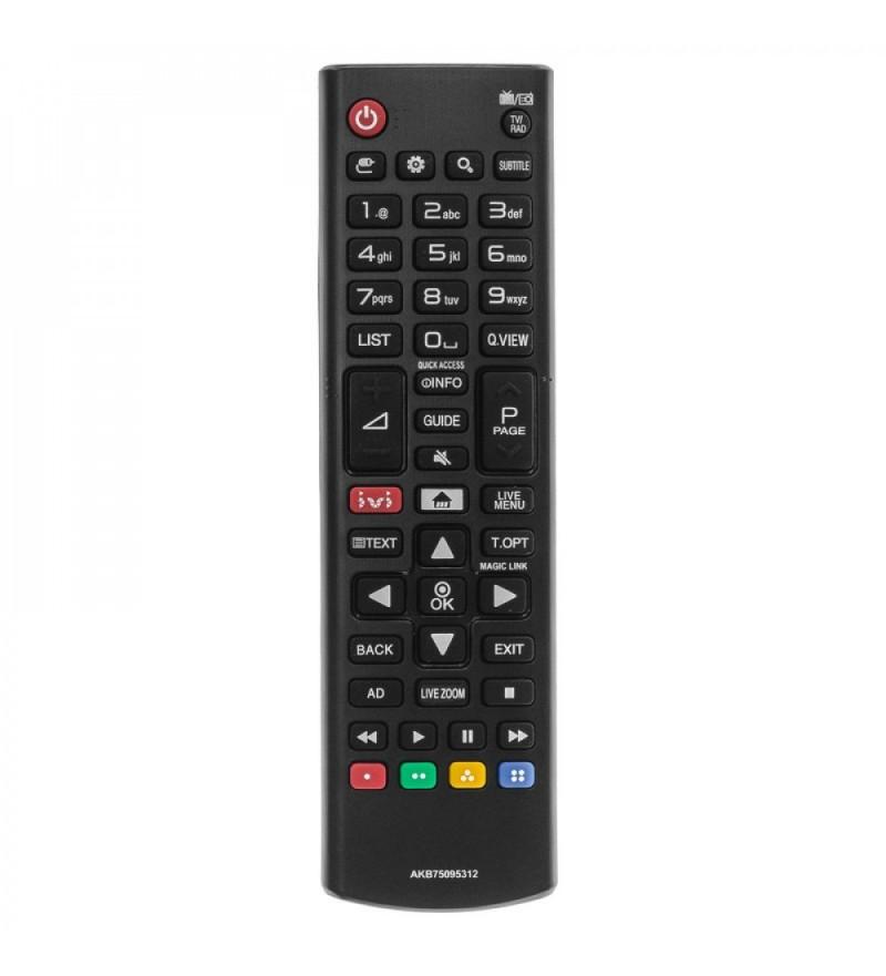 Пульт LG AKB75095312 оригинальный, LCD LED TV с кнопкой IVI, маленький корпус
