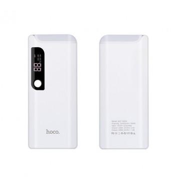 Внешний аккумулятор HOCO B27 15000mAh 2.0A 2USB с лампой, белый