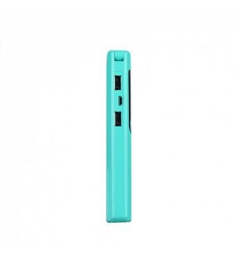 Внешний аккумулятор HOCO B27 15000mAh 2.0A 2USB с лампой, голубой