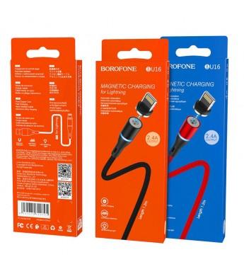Кабель BOROFONE BU16 Skill magnetic charging cable for Lightning черный