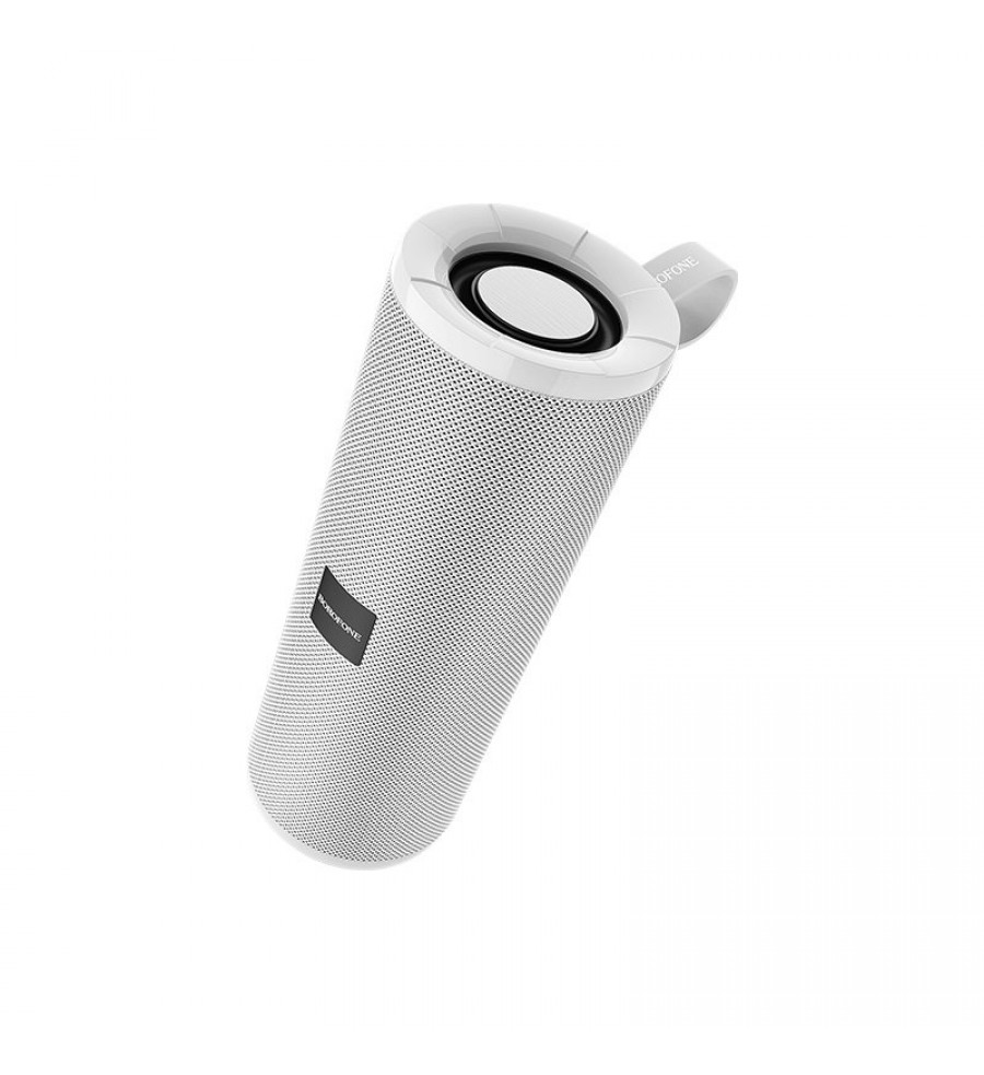 Портативная колонка Borofone BR1 bluetooth 5.0 с микрофоном, серый