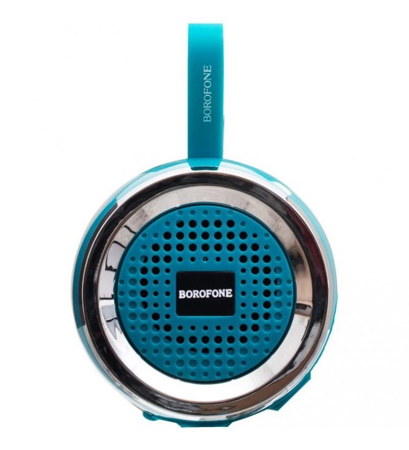 Портативная колонка Borofone BR2 bluetooth 5.0 с микрофоном зеленый