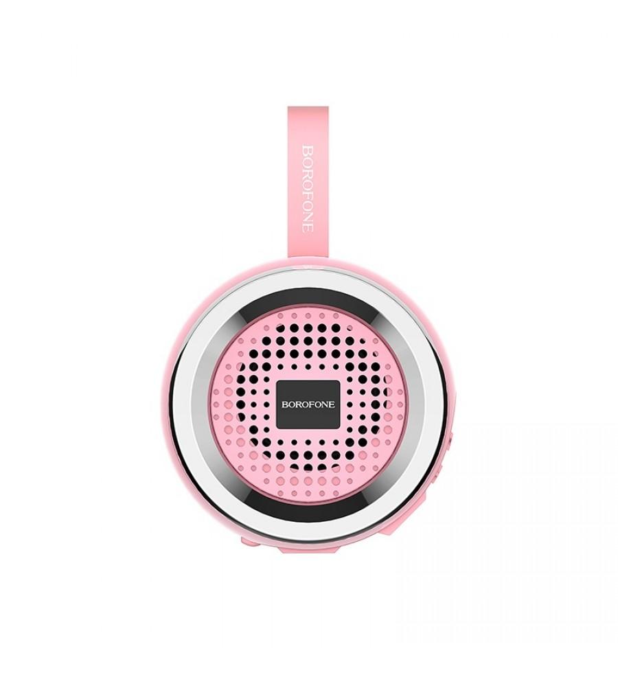 Портативная колонка Borofone BR2 bluetooth 5.0 с микрофоном, розовый