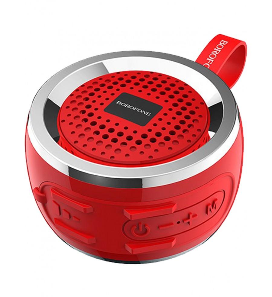Портативная колонка Borofone BR2 bluetooth 5.0 с микрофоном, красная
