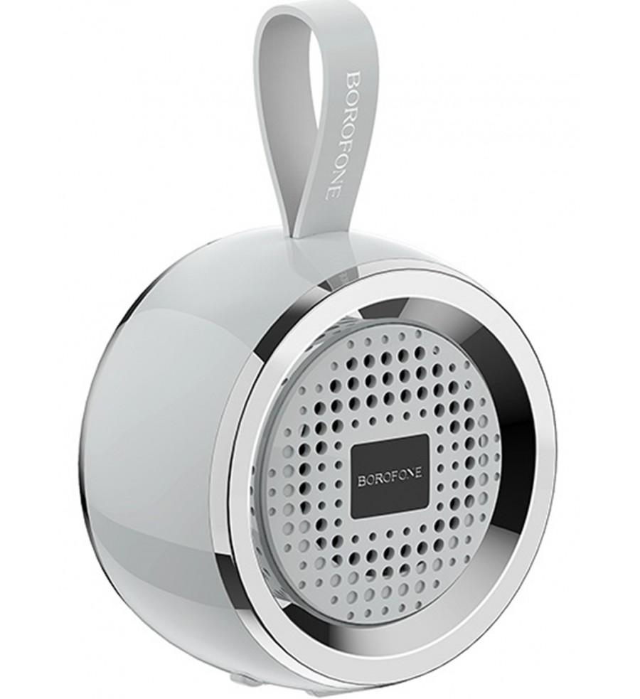 Портативная колонка Borofone BR2 bluetooth 5.0 с микрофоном, серый