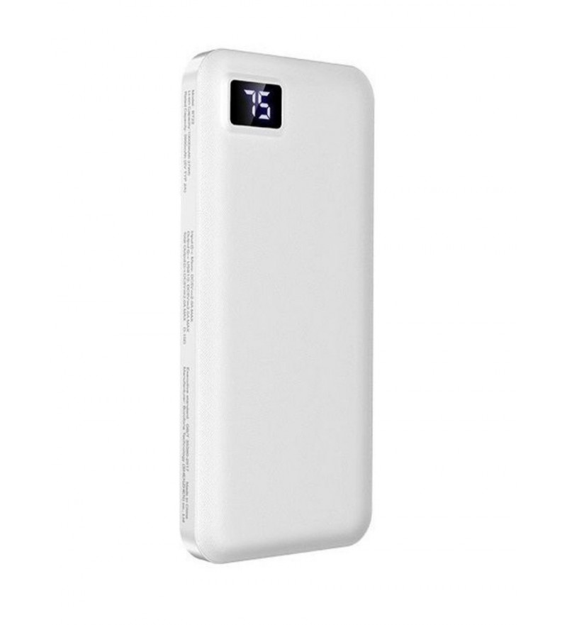 Внешний аккумулятор Borofone BT22 10000mAh 2.0A 2USB, белый
