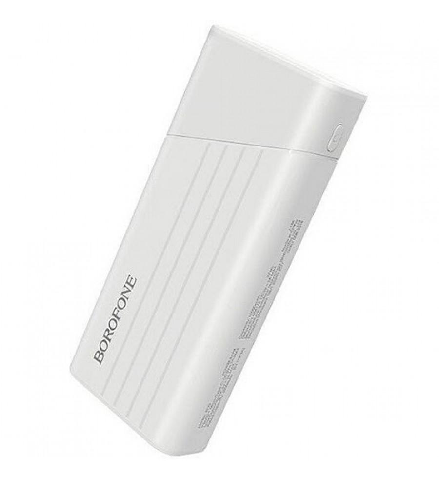 Внешний аккумулятор Borofone BT23 10000mAh 2.0A 2USB, белый