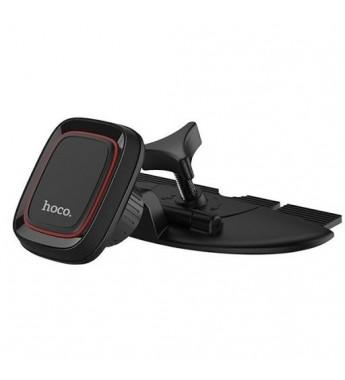 Держатель автомобильный HOCO CA25 в CD слот, магнит, черный