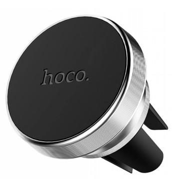 Держатель автомобильный HOCO CA47 в воздуховод, магнит, серебряный.