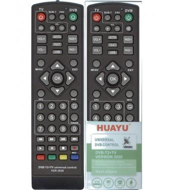 Пульт Huayu для приставок DVB-T2+TV ver.2020 универсальный для разных моделей DVB-T2