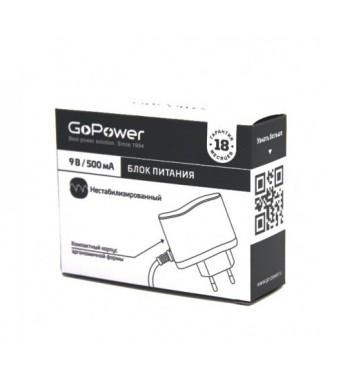 Блок питания GoPower 500mA 9V