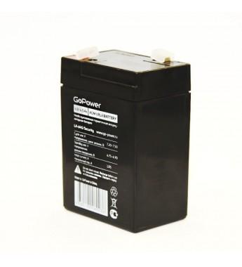 Аккумулятор свинцово-кислотный GoPower LA-645/security 6V 4.5Ah