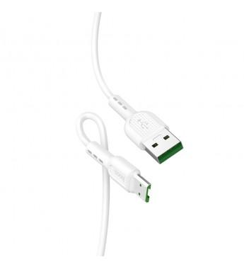 Кабель HOCO X33 USB (m)-microUSB (m) 1.0м 4.0A силикон белы