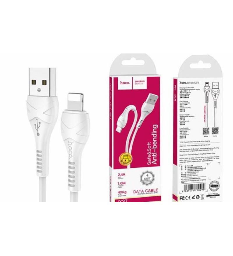 Кабель HOCO X37 USB (m)-Lightning (m) 1.0м 3.0A силикон белый