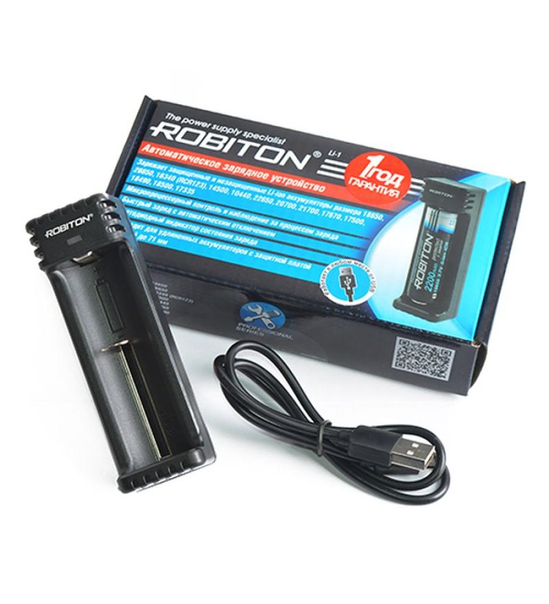 Зарядное устройство Robiton Li-1 для зарядки Li-ion аккумуляторов 3,6-3,7В всех размеров