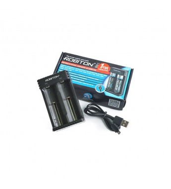 Зарядное устройство Robiton Li-2 для зарядки 2 Li-ion аккумуляторов 3,6-3,7В всех размеров