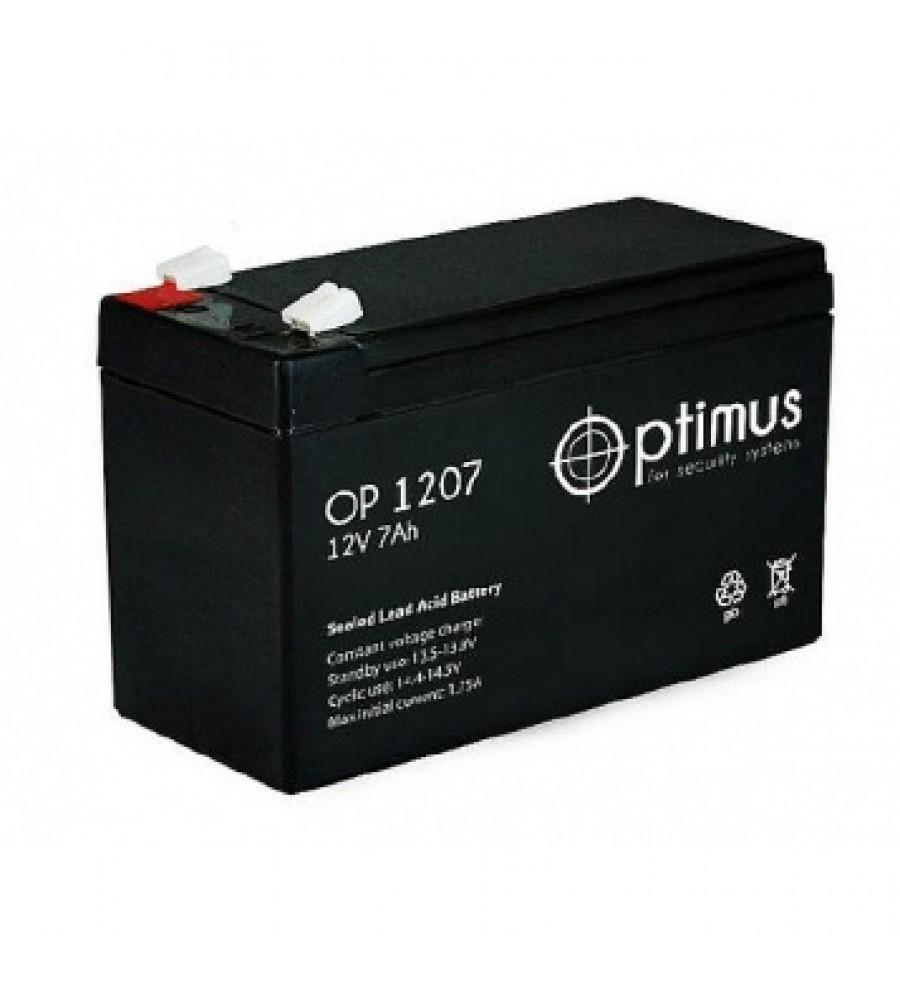 Аккумулятор свинцово-кислотный Optimus OP 1207 12V 7Ah