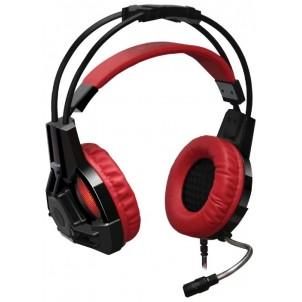 Наушники полноразмерные Redragon Lester с микрофоном, черно-красные
