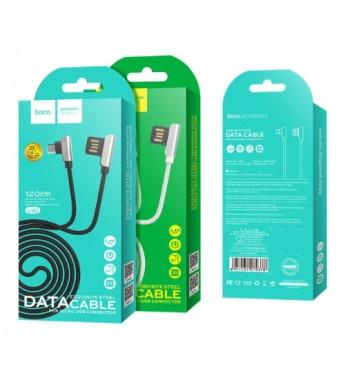 Кабель HOCO U42 USB (m)-microUSB (m) 1.2м 2.4A ткань белый