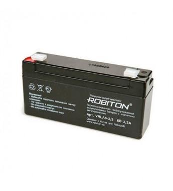 Аккумулятор ROBITON VRLA 6-3.3, 6V 3,3Ah свинцово-кислотный