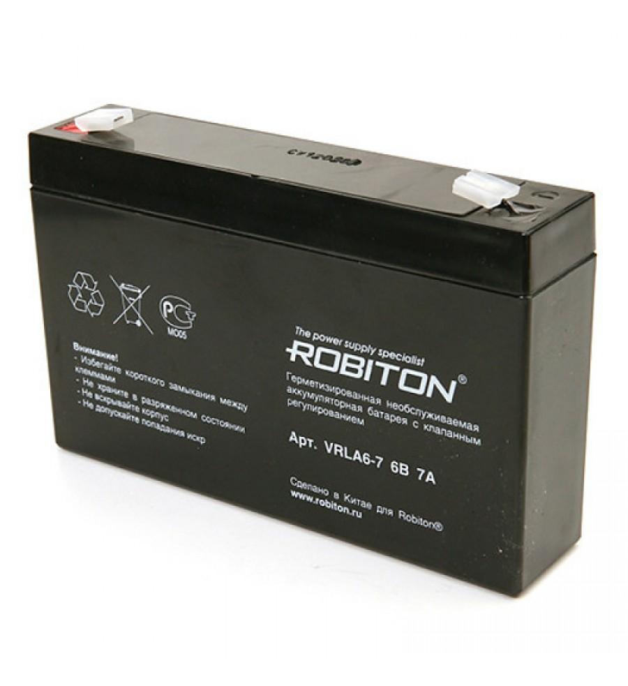 Аккумулятор ROBITON VRLA 6-7.0, 6V 7,0Ah свинцово-кислотный