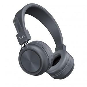 Наушники полноразмерные HOCO W25 bluetooth 5.0 с микрофоном microSD, серый