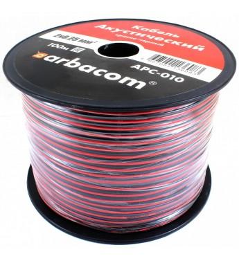 Акустический кабель 2х0.35кв.мм 100м на бобине (красно-черный)