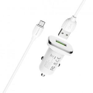 Автомобильное З/У Borofone BZ12A с кабелем micro-USB